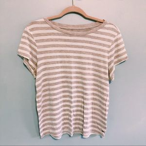 American Eagle Soft & Sexy White & Pink Tee